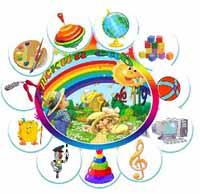 ЛОГОТИП ДЕТСКОГО САДА. В НЕМ ПОКАЗАНО в каких направлениях ведется работа, чтобы мир детства девочек и мальчиков стал интересным, разноцветным, ярким!!!
